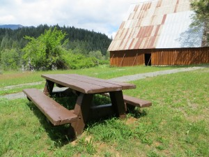 Picnic Bench ready to use